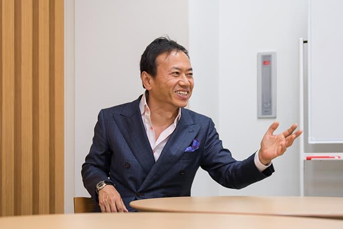 創業者の堀井社長による面接
